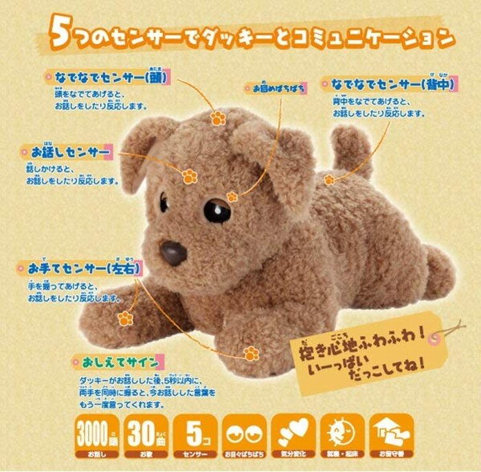 Talkative doll kik including the story dog robotic dog chattering ducky  chattering sewing to talk including the sewing