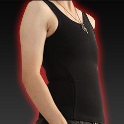 なべシャツ オナベ用 シャツ 下着 補正 下着 矯正 送料無料【ナベシャツ X[ten]なべしゃつてん 黒(2枚セット)】【送料無料】ランニング タイプ タンクトップ 胸つぶし用シャツ おなべ用 シャツ rj