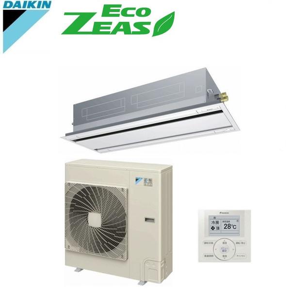 「送料無料」業務用エアコンダイキンECOZEAS-4馬力szrg112ba天井埋込カセット形2方向