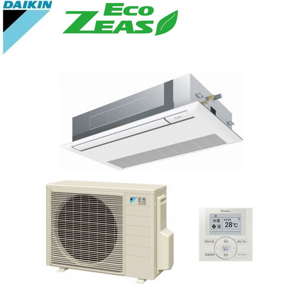 「送料無料」業務用エアコンダイキンECOZEAS-2.5馬力szrk63bat天井埋込カセット形1方向