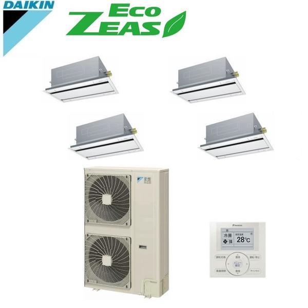 「送料無料」業務用エアコンダイキンECOZEAS-ダブルツイン同時マルチ8馬力szzg224cfw天井埋込カセット形2方向