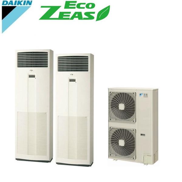 「送料無料」業務用エアコンダイキンECOZEAS-ツイン同時マルチ8馬力szzv224cfd床置形
