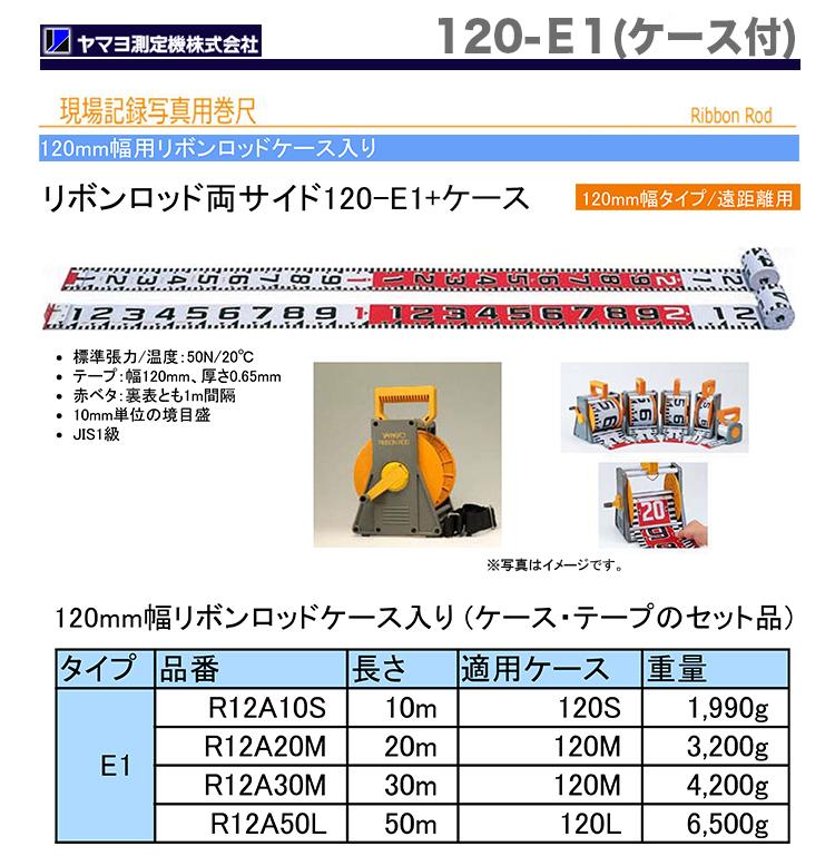 【超特価】【数量限定】【オススメ】〈ヤマヨ〉リボンロッド120mm幅 120-E1 ケース入・30m R12A30M