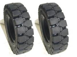 フォークリフト 全商品オープニング価格 タイヤ 黒 ノーパンクタイヤ 5.00-8 2本セット 専門店
