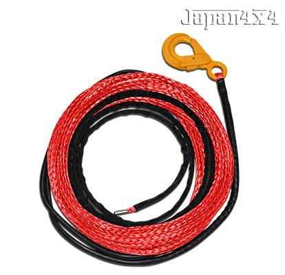 9.5mm径 ファイバーロープ ロープ ウインチ 牽引ロープ 38m