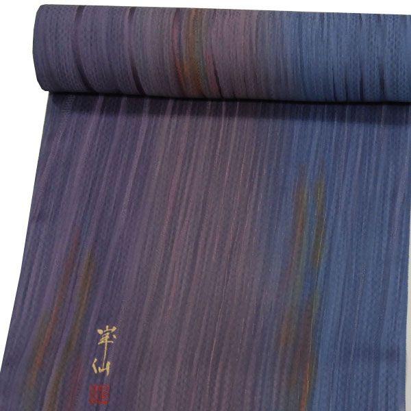 コート/羽織地 反物  【紫から青へのボカシに黄・赤の色】