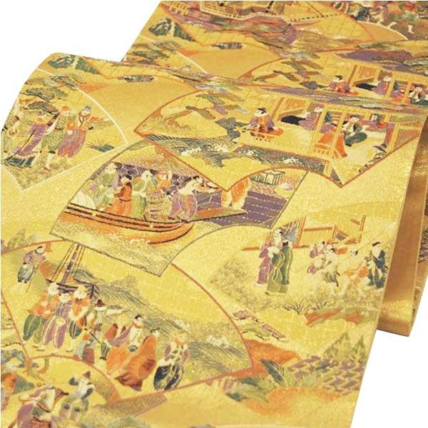 袋帯 西陣織 正絹 「想扇南蛮図」 お仕立代込