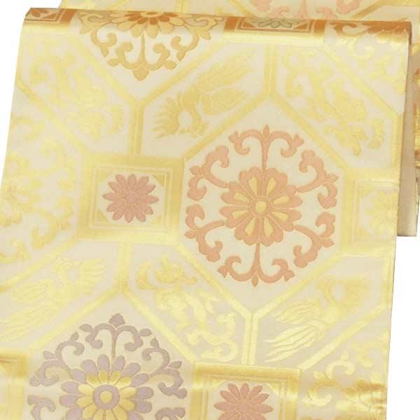 袋帯 正絹 西陣織 六通柄 「帯屋道伯」 〔お仕立代込〕