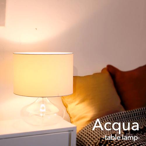 デスクライト モダン インテリア照明【acqua:アクア】【DI CLASSE:ディクラッセ】テーブルランプ LED対応 シンプル モノトーン ブラック ホワイト 洋風 おしゃれ レトロ スタンドライト ホテルライク ガラス 上品 デスクランプ 間接照明 サブ照明 リビング用