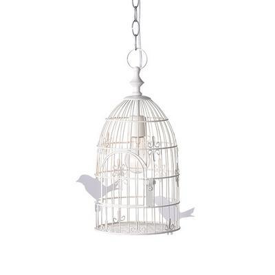 Birdcage pendant birdcage pendant white artworkstudio mozeypictures Image collections