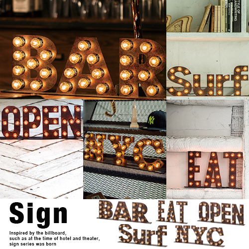 Snapping sign l& floor light wall light retro vintage vintage Interior fashion indirect lighting design lighting cafe bar lighting & japanbridge | Rakuten Global Market: Snapping sign lamp floor light ...