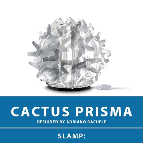 【CACTUS PRISMA:カクタス プリズマ】TABLE LAMP XS テーブルランプ スタンドライト テーブルスタンド スタンド照明 E17 1灯 LED電球付属 間接照明 照明 エレガント 北欧 モダン デザイン 輸入照明 デザイナーズ照明 ブランド照明 ライト ITALY イタリア *SLAMP スランプ