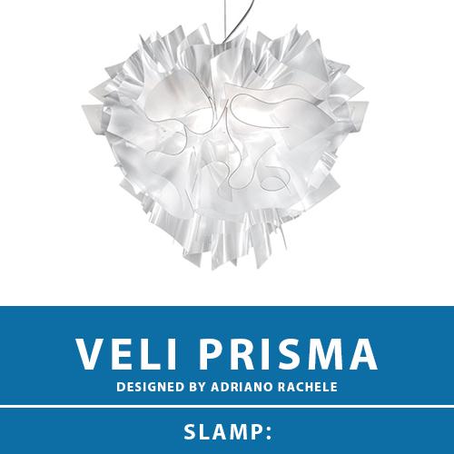 【VELI PRISMA:ベリ プリズマ】SUSPENSION LARGE サスペンション ペンダントライト プリズム E26 4灯 LED電球付属 天井照明 シーリングライト 照明 エレガント 北欧 モダン デザイン 輸入照明 デザイナーズ照明 ブランド照明 ライト ITALY イタリア *SLAMP スランプ