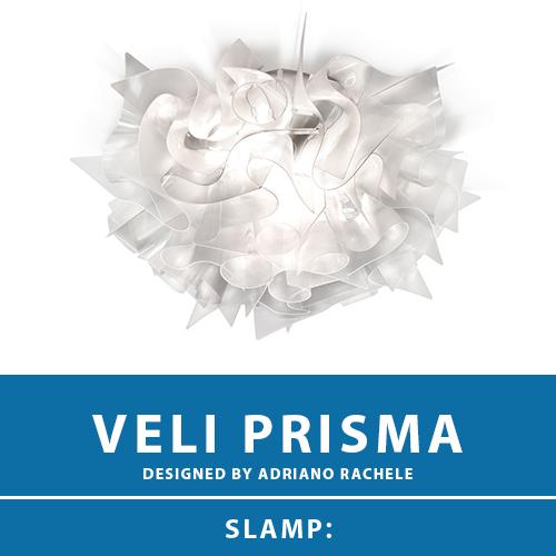 【VELI PRISMA:ベリ プリズマ】CEILING-WALL LAMP MEDIUM シーリングライト ウォールライト プリズム E26 3灯 LED電球付属 天井照明 シーリングライト 照明 エレガント 北欧 モダン デザイン 輸入照明 デザイナーズ照明 ブランド照明 ライト ITALY イタリア *SLAMP スランプ