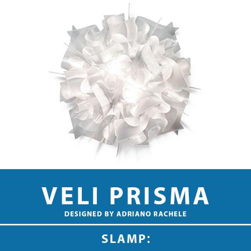 【VELI PRISMA:ベリ プリズマ】CEILING-WALL LAMP MINI シーリングライト ウォールライト プリズム E17 1灯 LED電球付属 天井照明 シーリングライト 照明 エレガント 北欧 モダン デザイン 輸入照明 デザイナーズ照明 ブランド照明 ライト ITALY イタリア *SLAMP スランプ