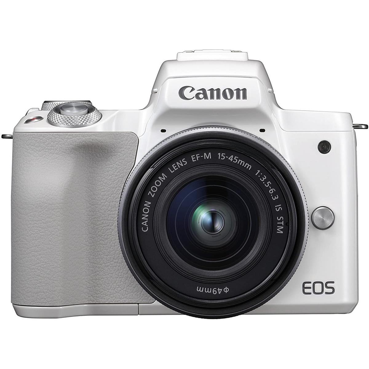 安い購入 Canon キヤノン ミラーレス一眼カメラ EOS Kiss M EF-M15-45 IS STM レンズキット ホワイト(ダブルレンズキット箱), PRO SHOP SUNCABIN -サンキャビン- 99a21fcf