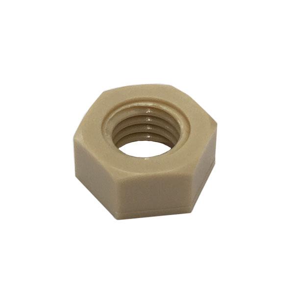 1種六角ナットM2-0.4並目ピッチ【PPS(ポリフェニレンサルファイド樹脂)/生地/1000個入】(二面幅4高さ1.6)