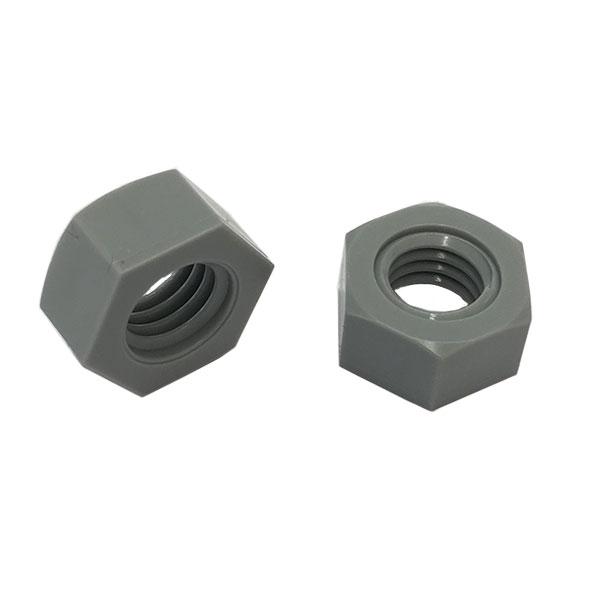1種六角ナットM20-2.5並目ピッチ【PVC(ポリ塩化ビニル)/生地/100個入】(二面幅30高さ16)