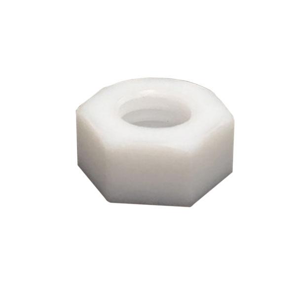 1種六角ナットM6-1.0並目ピッチ【PTFE(テフロン)/生地/1000個入】(二面幅10高さ5)