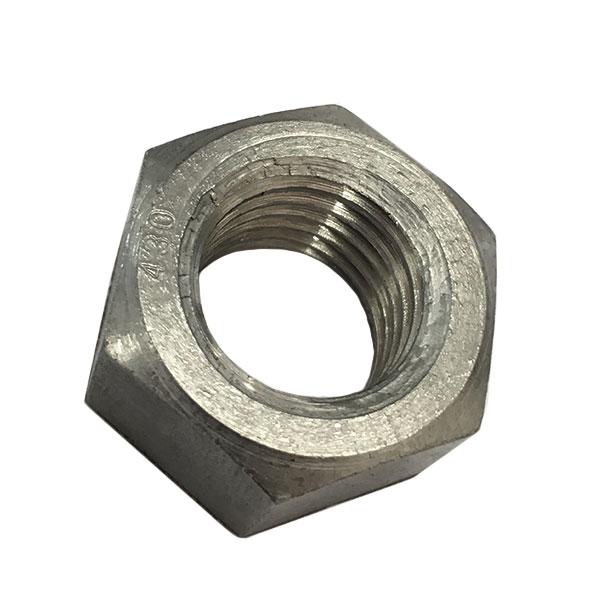 1種六角ナットM30-3.5並目ピッチ【SUS430/生地/10個入】(二面幅46高さ24)