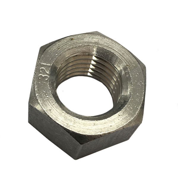 1種六角ナットM16-2.0並目ピッチ【SUS321/生地/100個入】(二面幅24高さ13)