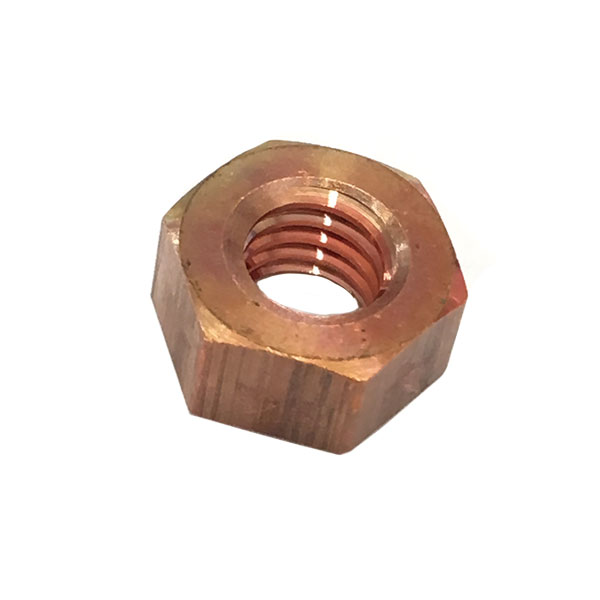 1種六角ナットM6-1.0並目ピッチ【銅/生地/100個入】(二面幅10高さ5)
