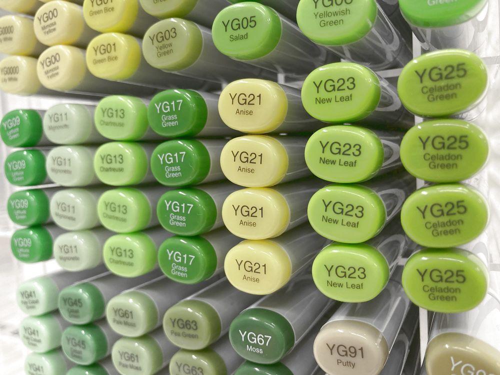 Too 色選択式 コピックスケッチ メーカー直送 黄緑系 YG0000~YG99 選択できます 公式サイト