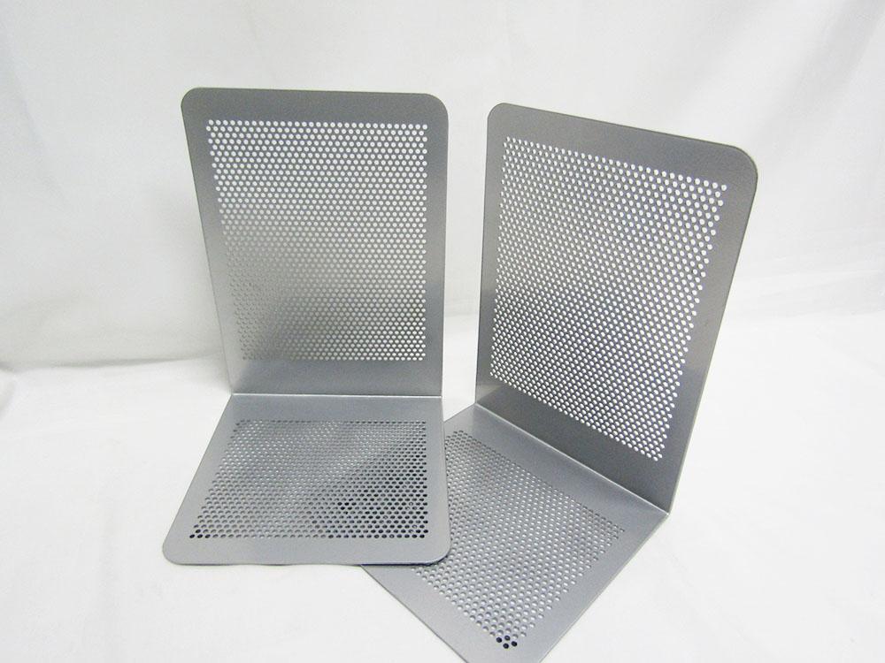 【送料無料35個セット】【ナカバヤシ】ブックエンドPタイプ Mサイズ BE-P201SM シルバーメタリック