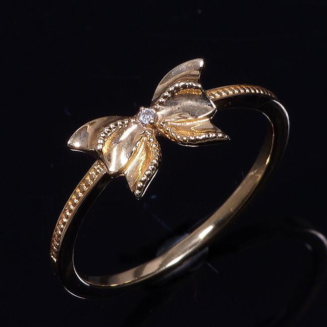 ニューフェイスリング18金ダイヤデザインリング(28-7536)