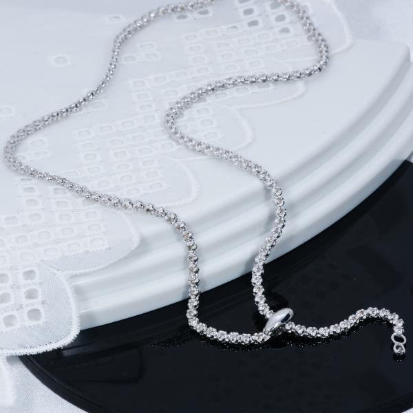 大ヒット商品 70%OFF 期間限定特別奉仕品 シルバー台 ダイヤデザインネックレス 計1カラット 特製多機能留め具通常価格60,500円を70%OFF