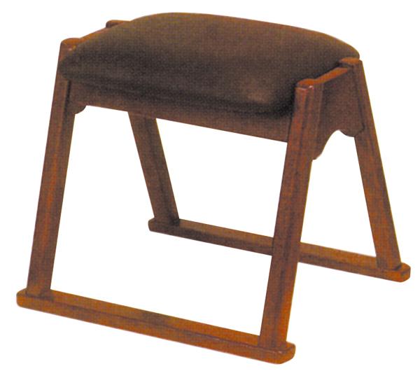 木製 お詣り椅子(背なし・無地) 小