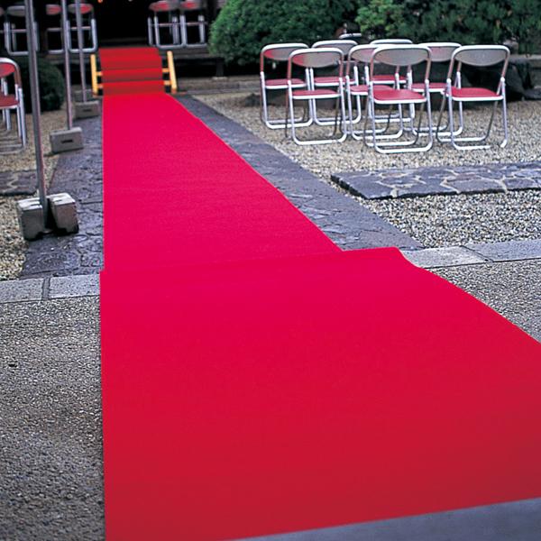 パンチカーペット 標準タイプ 25m 赤
