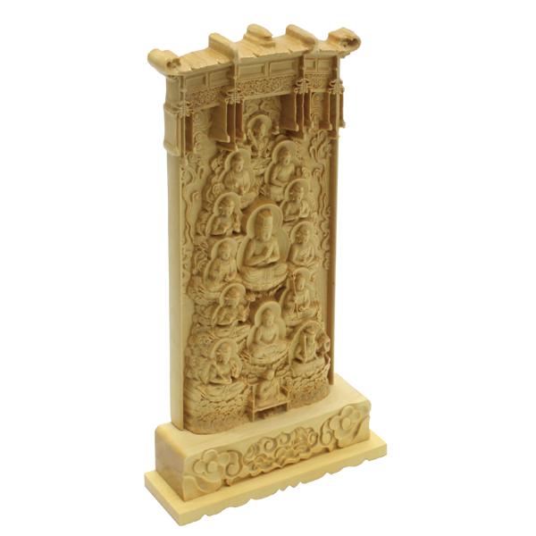 木彫 真言十三仏 立札