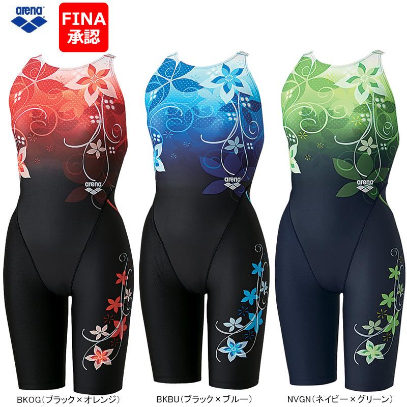 【送料無料】ARENA(アリーナ) スイムウェア 女性用(レディース) マスターズ・競泳水着 セイフリーバックスパッツ(ハーフスーツ オープン) ARN-6061W【FINA承認】【16SS】◇