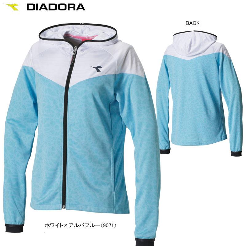 【送料無料】DIADORA(ディアドラ) TENNIS テニスウェア 女性用(レディース) W レイヤードHDYジャケット (ジャケット)DTL7140【17SS】◇