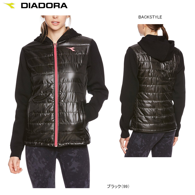 DIADORA ディアドラ TENNIS テニスウェア 中綿フーディージャケット レディース 女性用 パーカー 撥水 中綿 UV DTL7194