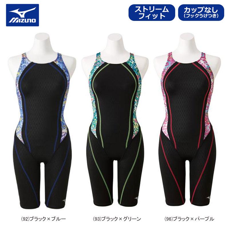 【あす楽対応】【新作 10%OFF】MIZUNO ミズノ スイムウェア 女性用 レディース 競泳用 ストリームフィットII ハーフスーツ オープン N2MG9243【19SS】