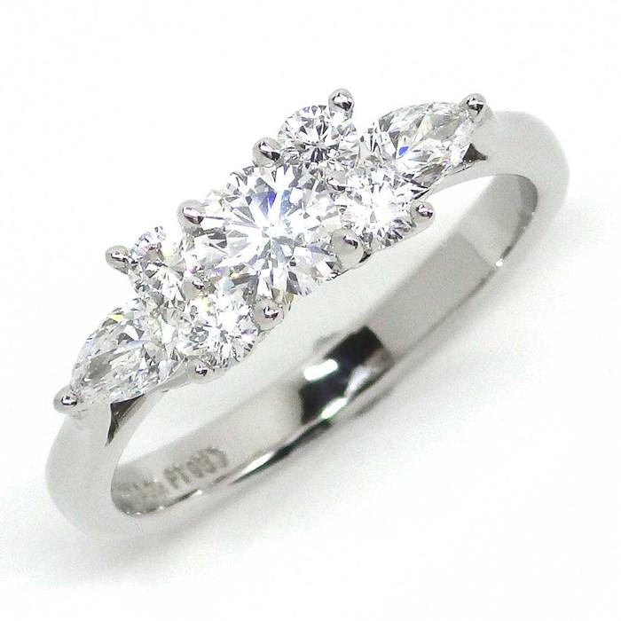 ティファニー リング セブンストーンダイヤ PT950 7ポイント ダイヤモンド 8号CrBoWdxe