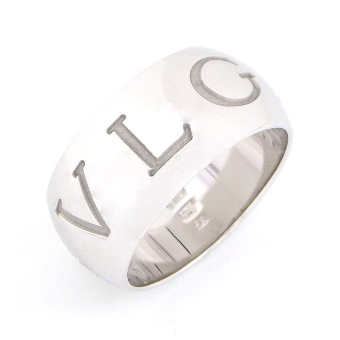 ブルガリ BVLGARI リング モノ ロゴ お金を節約 休み #56 中古 15号 K18WG