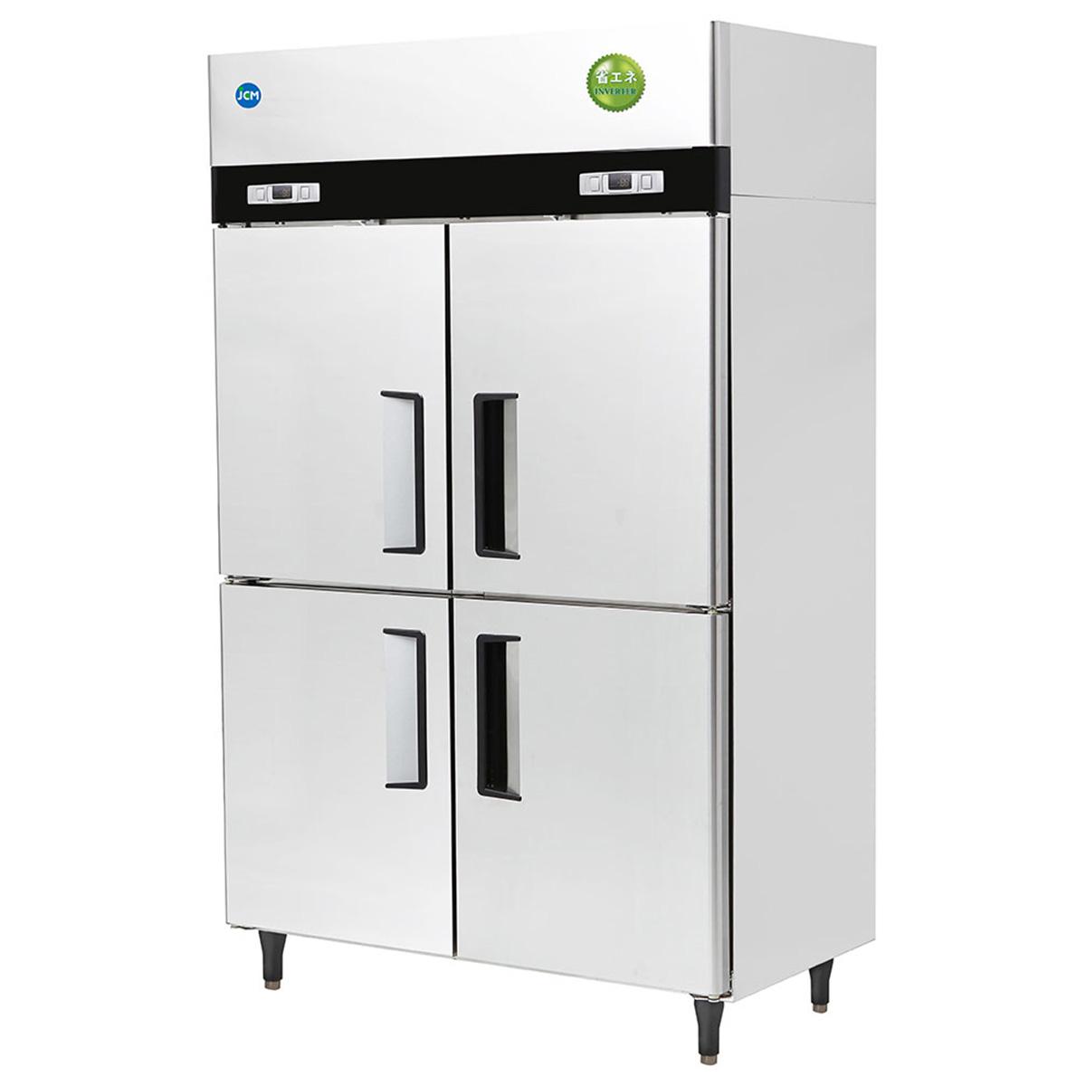 JCM タテ型 冷蔵庫 JCMR-1280-I 業務用 冷蔵 4ドア 省エネ 【代引不可】