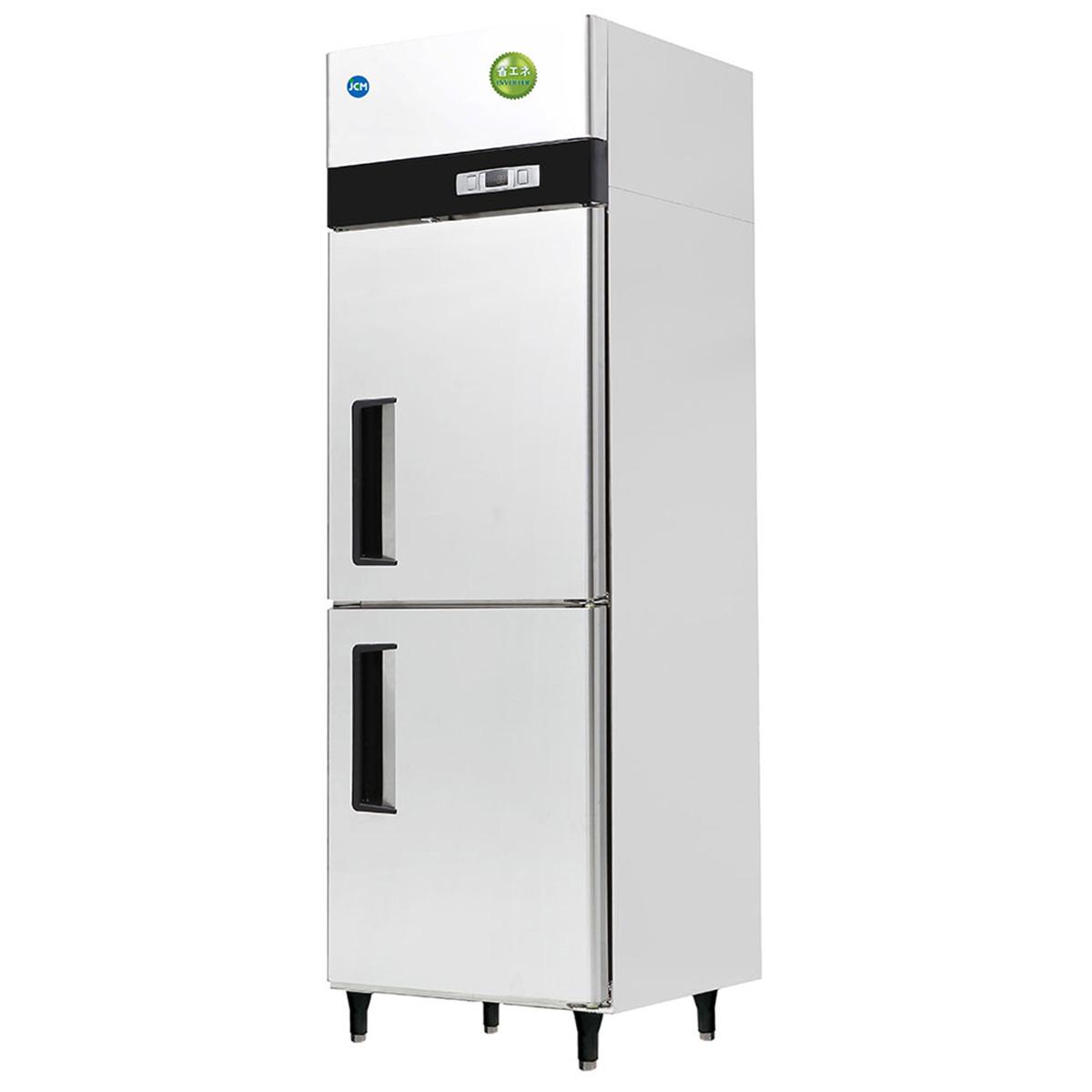 JCM タテ型 冷蔵庫 JCMR-665-I 業務用 冷蔵 2ドア 省エネ 【代引不可】