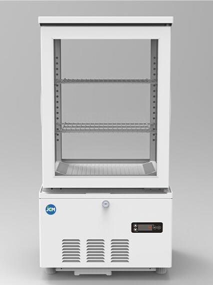 JCM 4面ガラス冷蔵ショーケース 58L JCMS-58 業務用 冷蔵 保冷庫 ショーケース 卓上型 LED 【代引不可】
