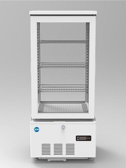 JCM 4面ガラス冷蔵ショーケース 78L JCMS-78 業務用 冷蔵 保冷庫 ショーケース 卓上型 LED 【代引不可】