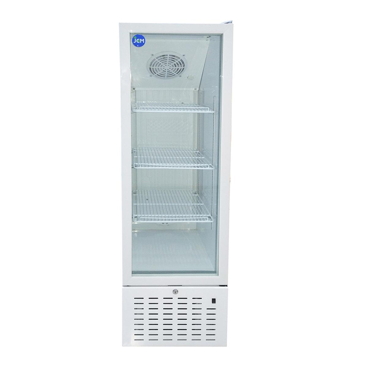 JCM タテ型冷蔵ショーケース JCMS-170 170L 業務用 タテ型 冷蔵 保冷庫 ショーケース LED 【代引不可】