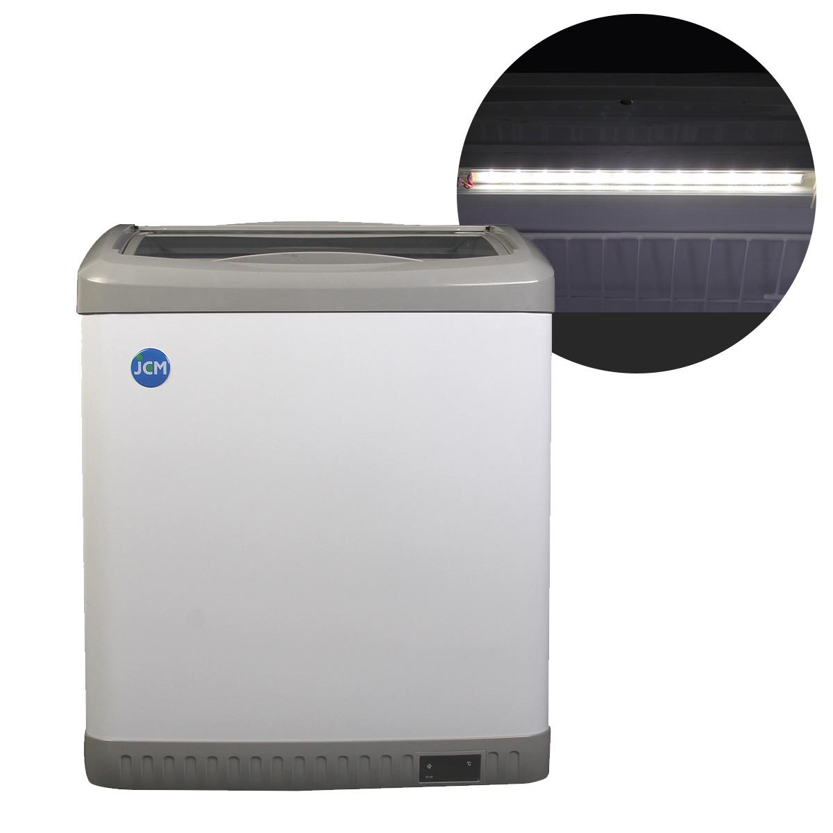 JCM 冷凍ショーケース 100L JCMCS-100L 業務用 冷凍 冷凍庫 保冷庫 ショーケース スライド LED照明付 【代引不可】