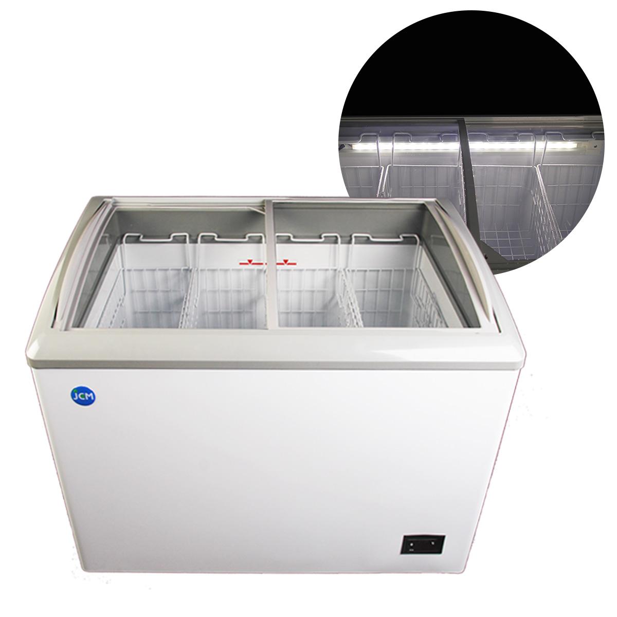 JCM 冷凍ショーケース 180L JCMCS-180L 業務用 冷凍 冷凍庫 保冷庫 ショーケース スライド LED照明付【代引不可】