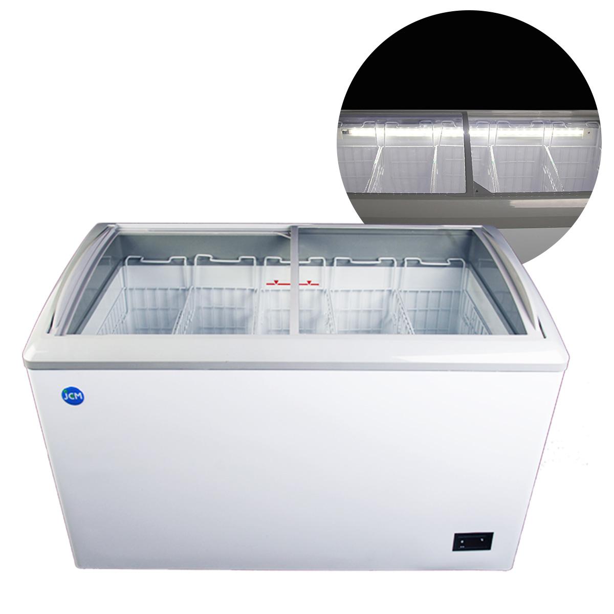 JCM 冷凍ショーケース 240L JCMCS-240L 業務用 冷凍 冷凍庫 保冷庫 ショーケース スライド LED照明付【代引不可】