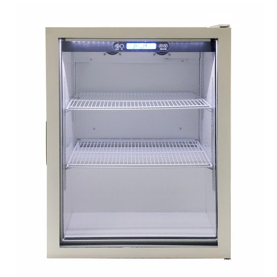 JCM 卓上型冷蔵ショーケース JCMS-126 126L 冷蔵 冷蔵庫 保冷庫 ショーケース【代引不可】