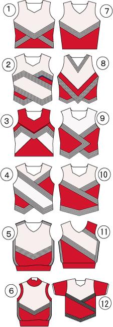 新作送料無料 チアガールの衣装 チアリーダー シェルトップのデザイン変更 ユニフォーム 賜物