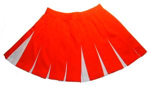 チアリーディング スカート Vボックス ラインなし 送料無料